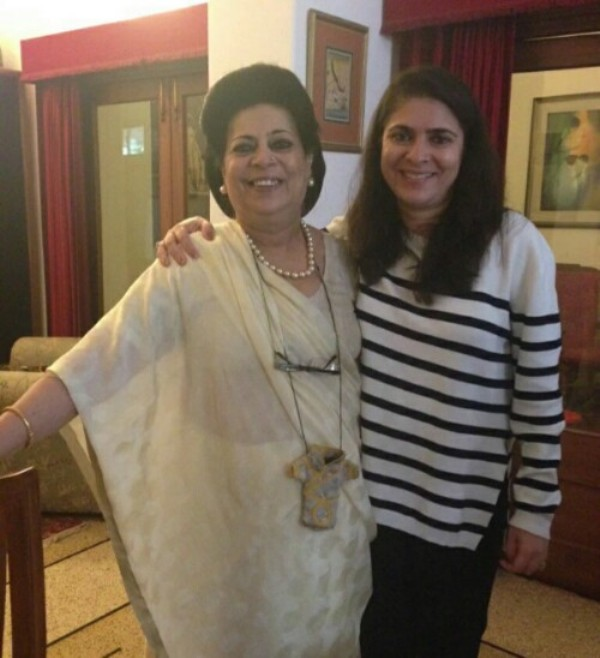 Sonia Singh with her mother