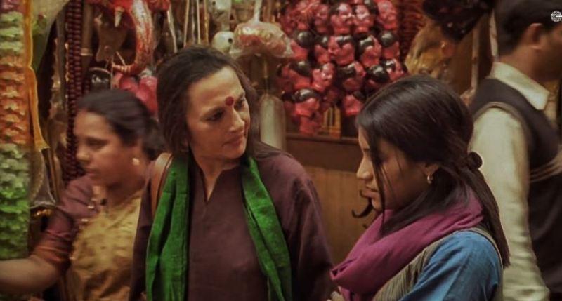Brinda Karat (with green dupatta) in a still from the movie Amu in 2005
