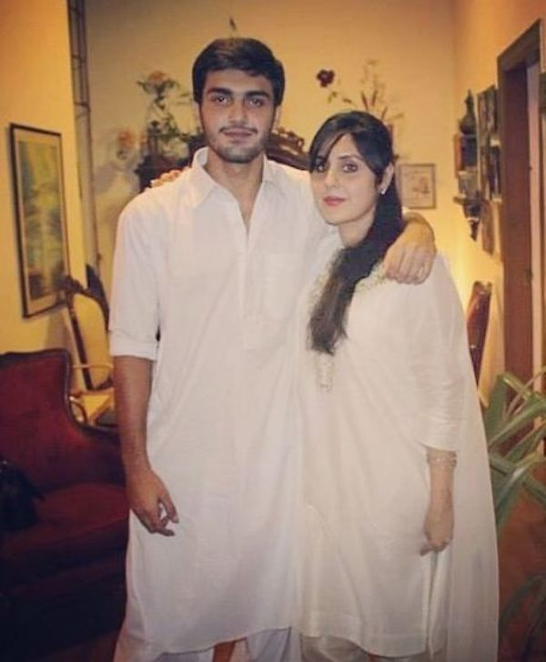 Ahsan Mohsin Ikram with his sister