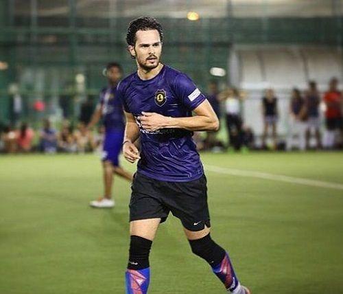 Ajit Sodhi while playing football
