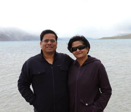 Rakesh Verma and his wife